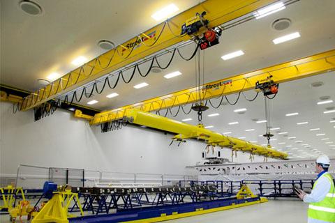 جرثقیل سقفی تک پل آویز برای ظرفیتهای زیر ۱۰ تن