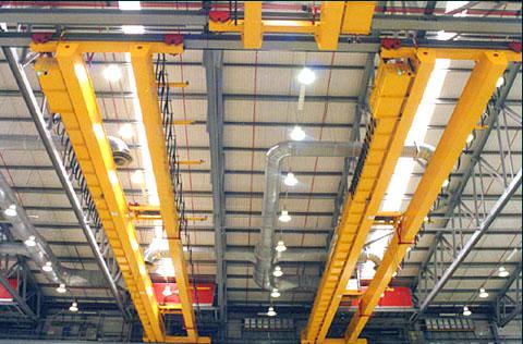 جرثقیل سقفی دوپل آویز برای ظرفیتهای بالای ۵ تن و در شرایط محیطی خاص
